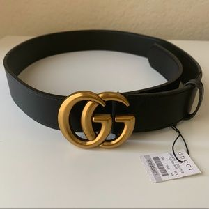 šNew Gucci Belt Àúthentīć Double G Marmot